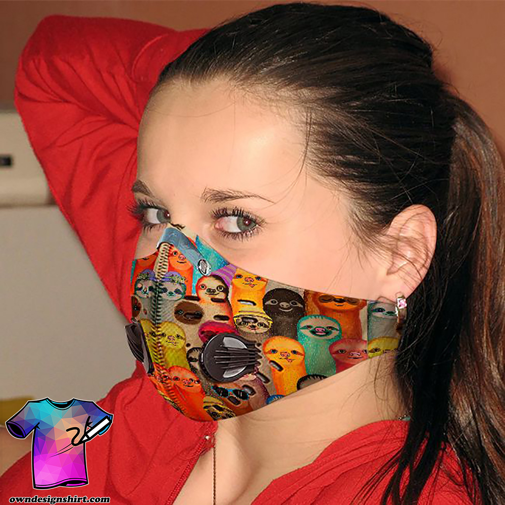 Sloth society carbon pm 2,5 face mask