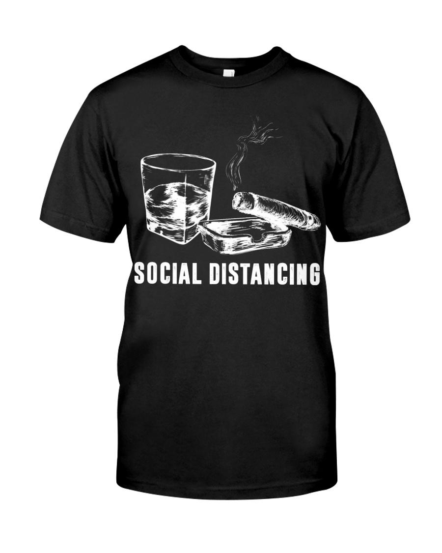 Social distancing alcohol and cigars guy shirt
