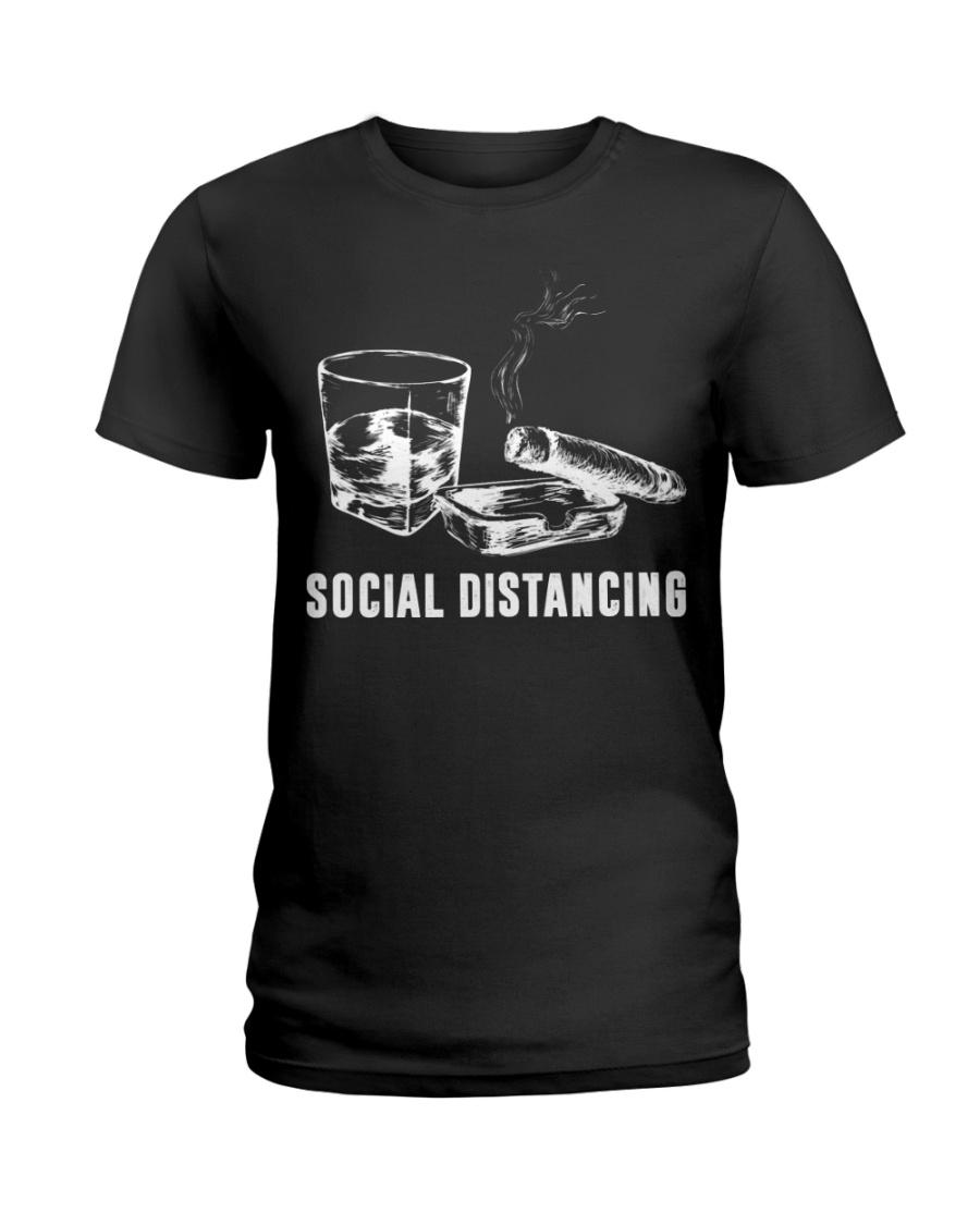 Social distancing alcohol and cigars lady shirt