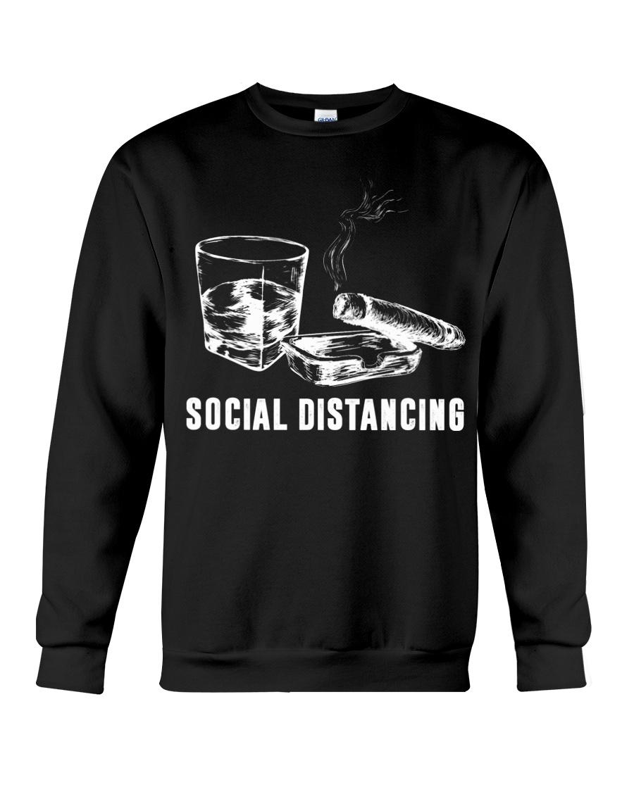 Social distancing alcohol and cigars sweatshirt
