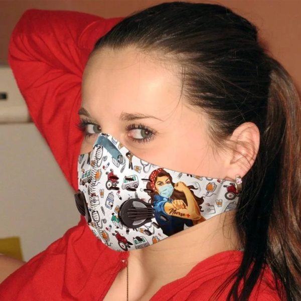 Strong nurse filter activated carbon pm 2,5 face mask 4