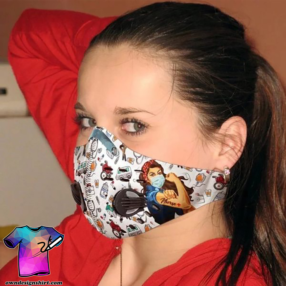 Strong nurse filter activated carbon pm 2,5 face mask