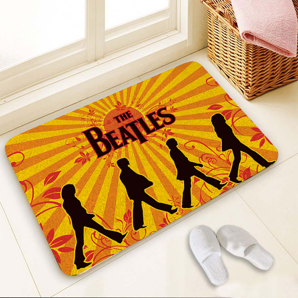 The beatles band full over print doormat 1