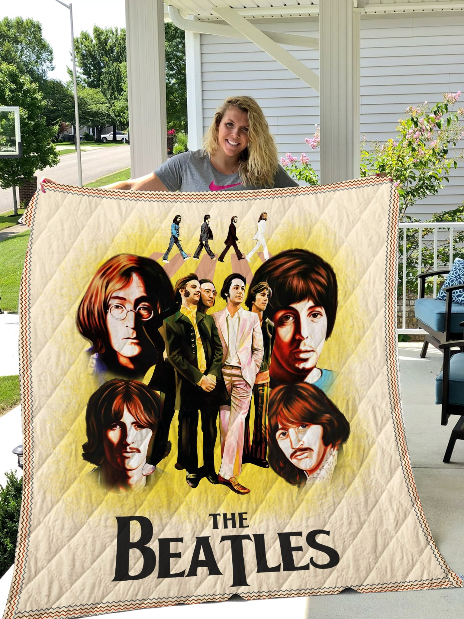 The beatles full printing quilt 4