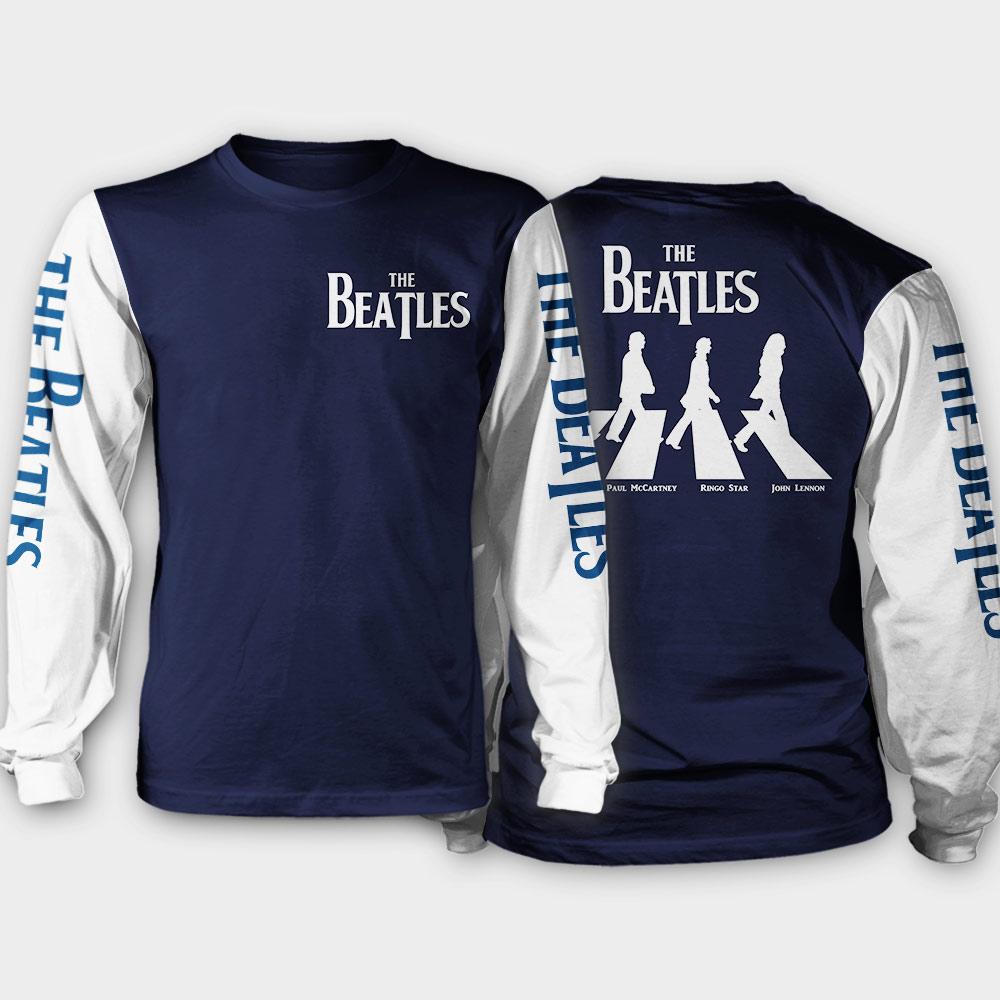 The beatles walking across abbey road all over print sweatshirt