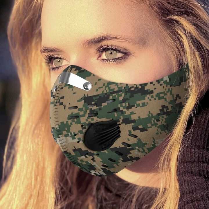 The united states marine corps camo filter activated carbon face mask 1