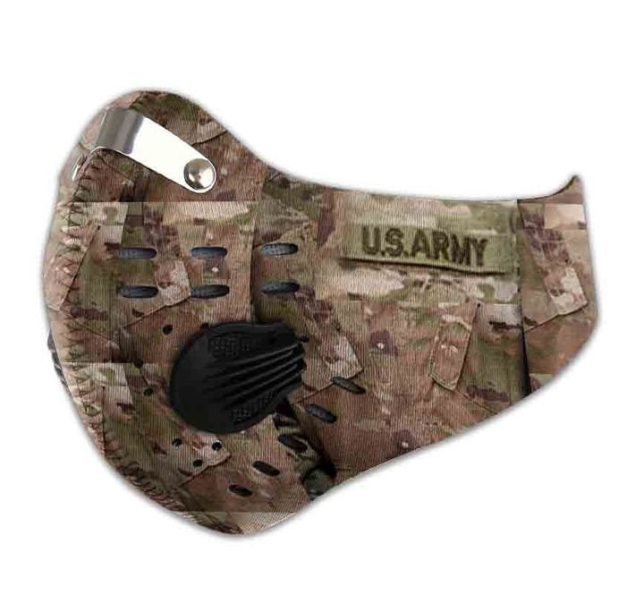 US army camo filter activated carbon face mask 3