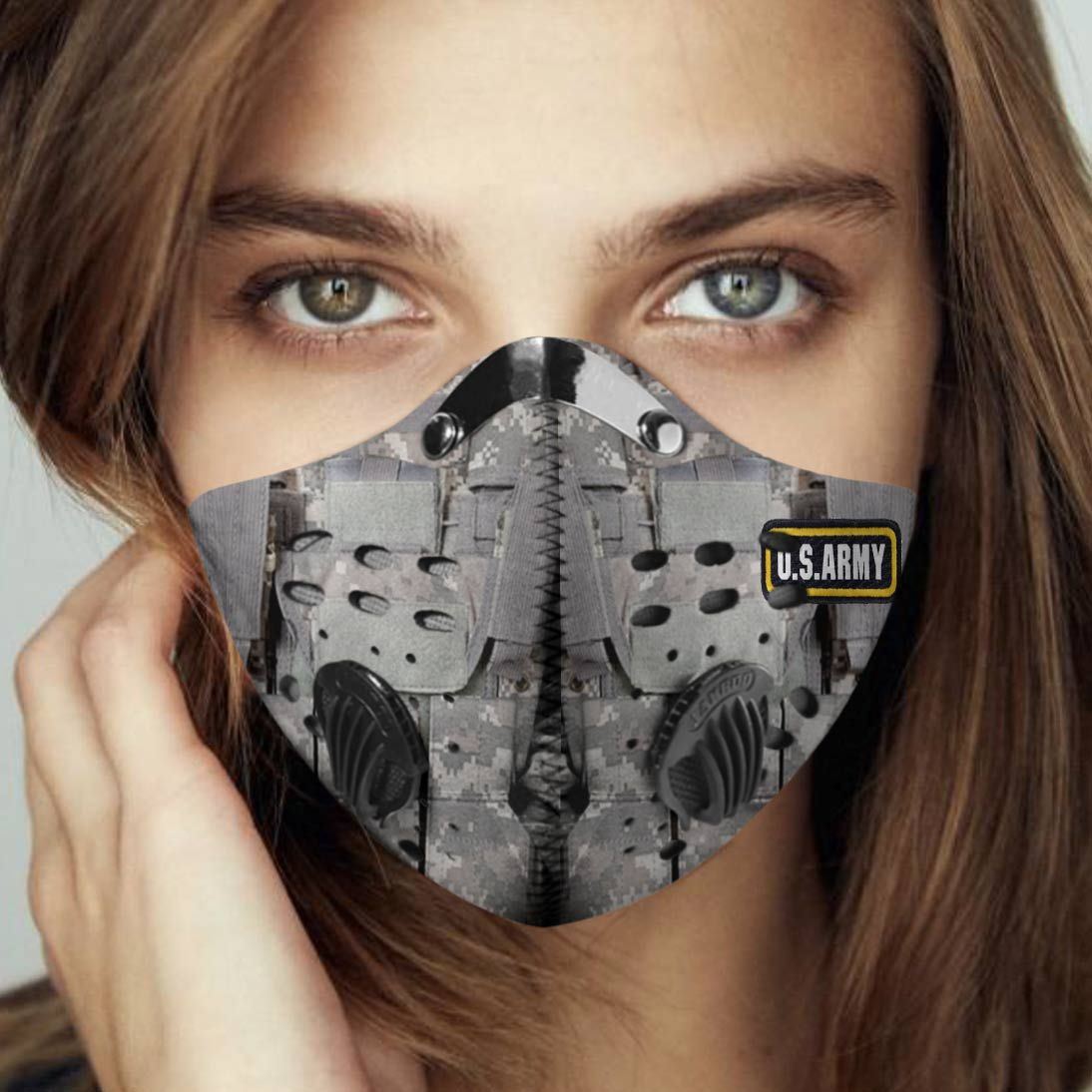 US army proud carbon pm 2,5 face mask 2