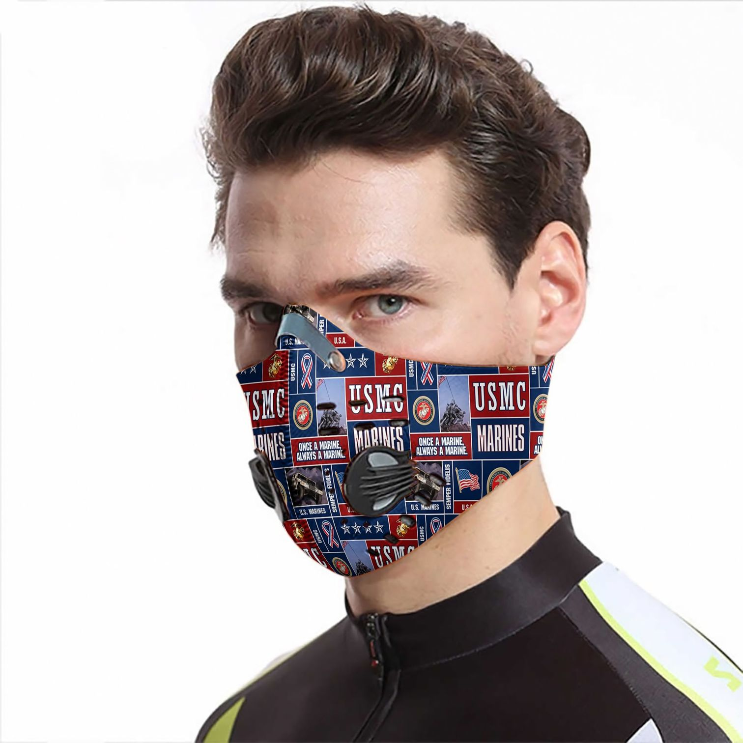 USMC marine be strong carbon pm 2,5 face mask 1