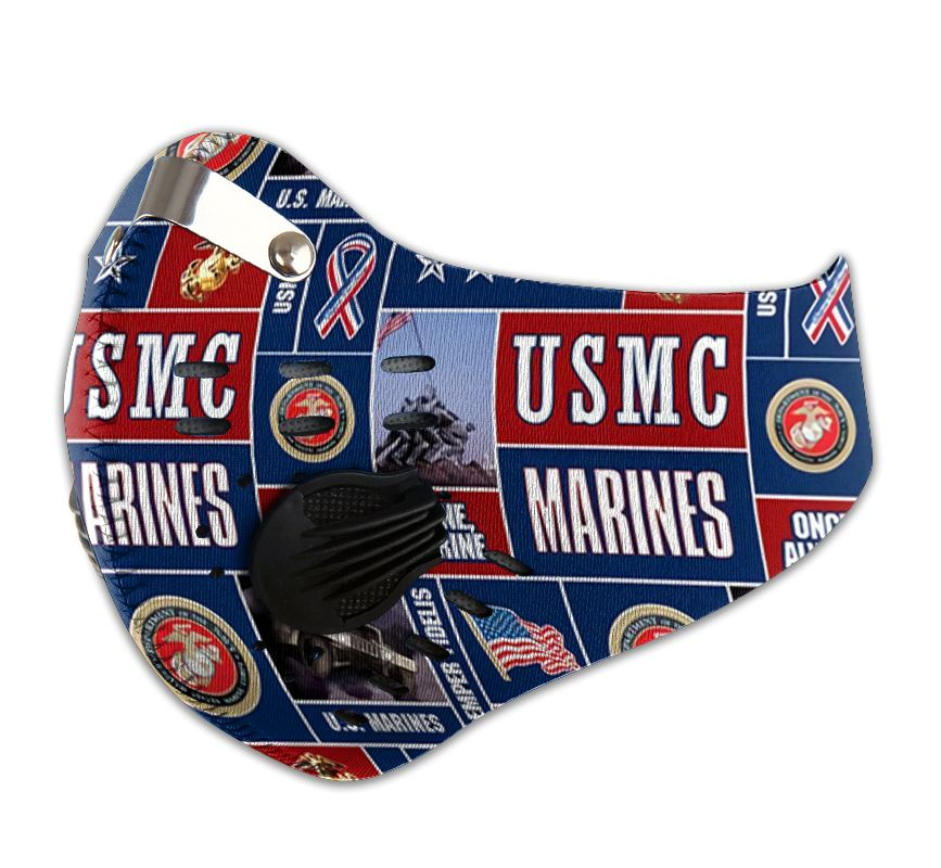 USMC marine be strong carbon pm 2,5 face mask 3