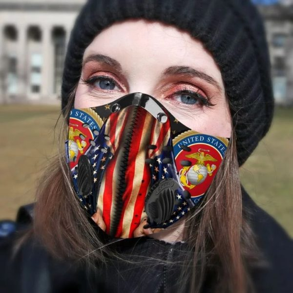 United state marino corps filter activated carbon pm 2,5 face mask 1