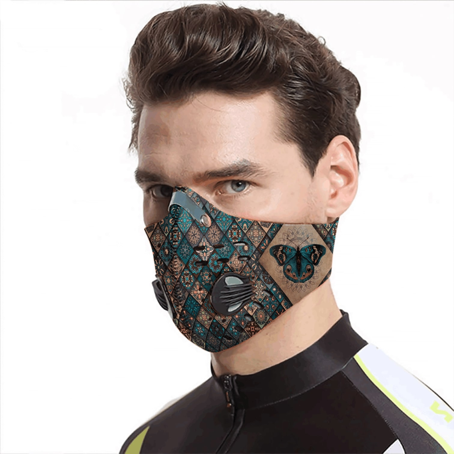 Vintage butterfly carbon pm 2,5 face mask 4