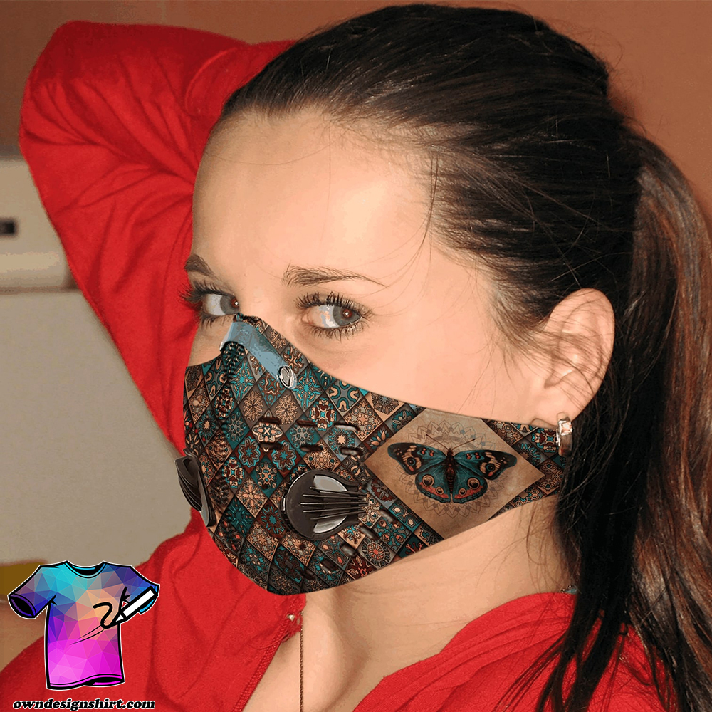 Vintage butterfly carbon pm 2,5 face mask