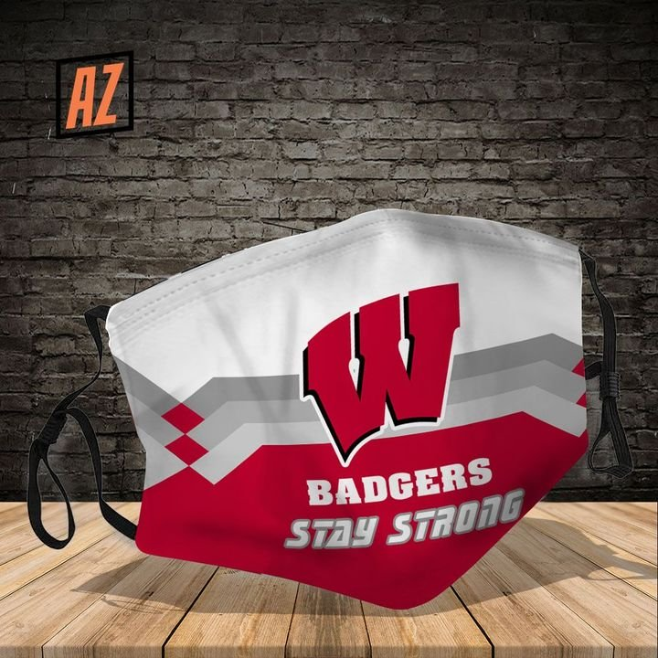 Wisconsin badgers stay strong full printing face mask 3