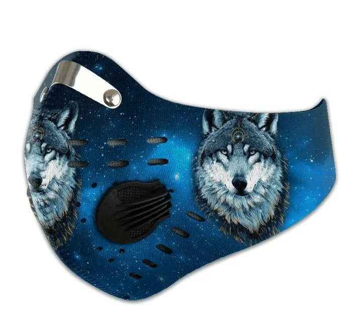 vWolf filter activated carbon pm 2,5 face mask 1