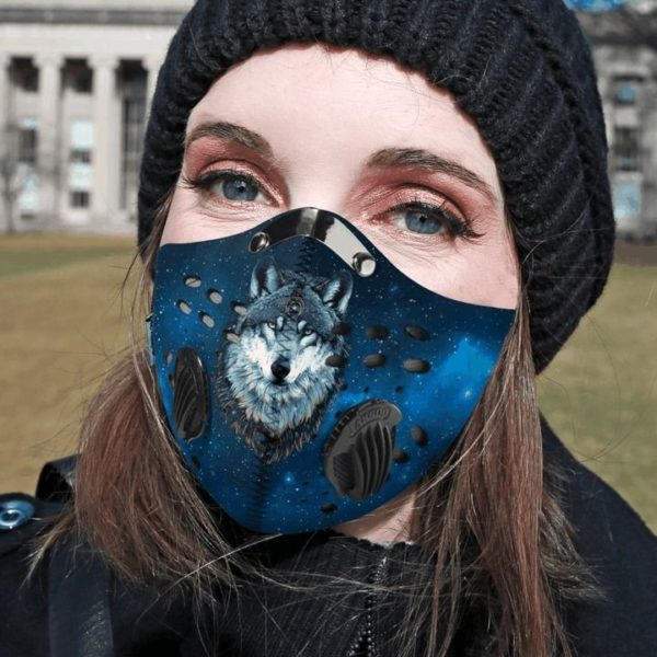Wolf filter activated carbon pm 2,5 face mask 2