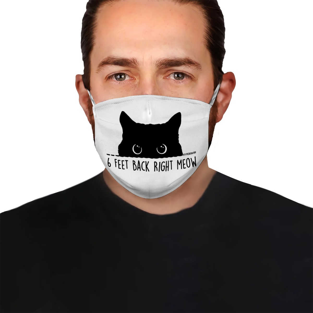 6 feet back right meow anti-dust cotton face mask 1