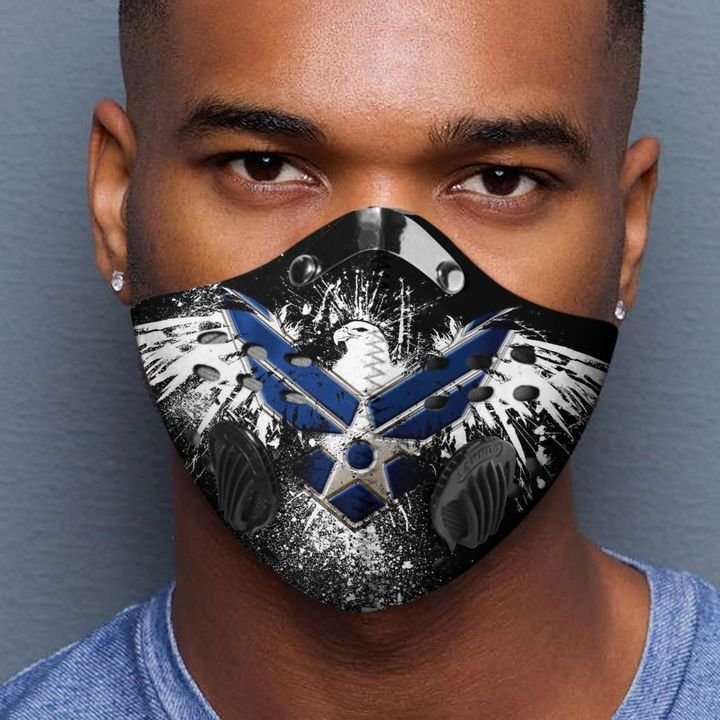 Air force eagle wings filter activated carbon face mask 2