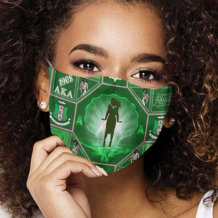 Alpha kappa alpha sorority incorporated 1908 anti-dust cotton face mask 3