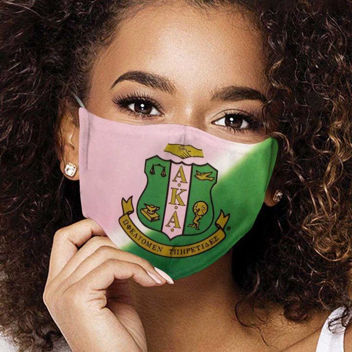 Alpha kappa alpha sorority symbol anti-dust cotton face mask 3