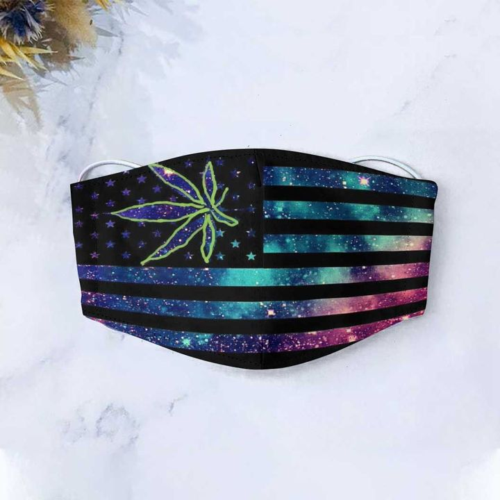 American flag canabis nation anti-dust cotton face mask 2