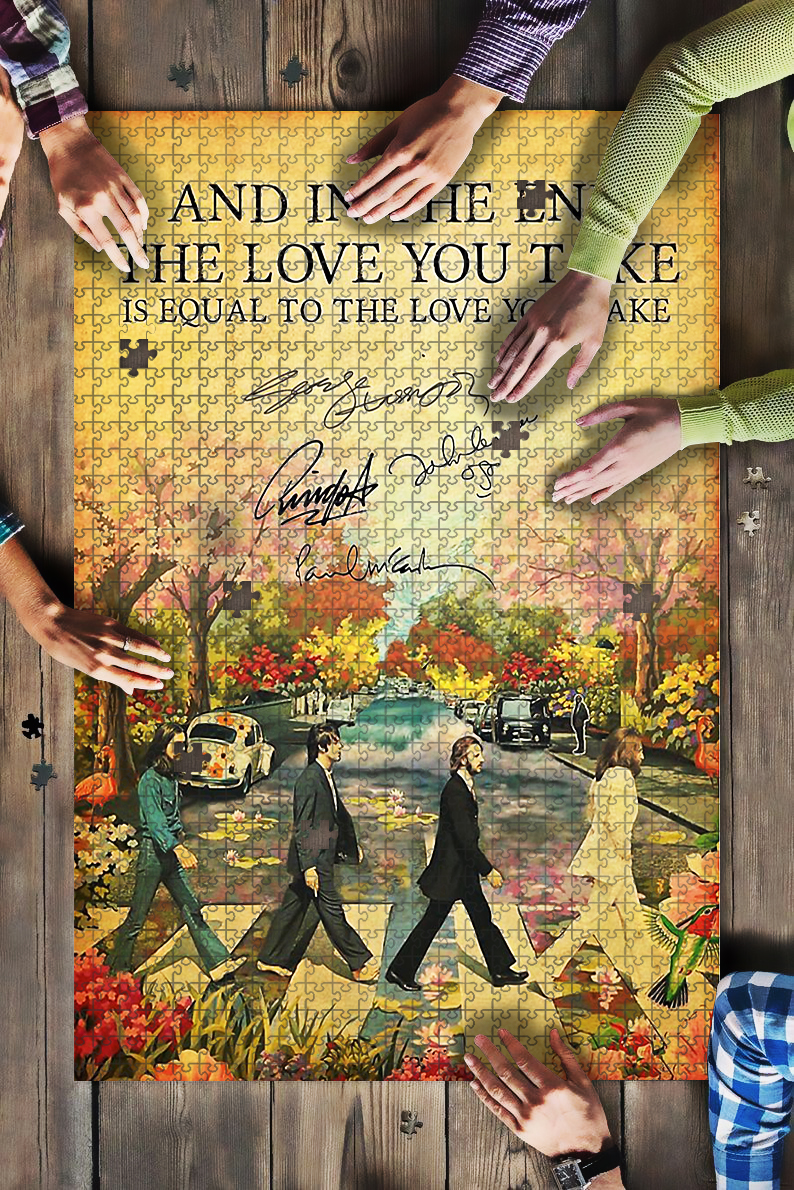 And in the end the love you take is equal the beatles jigsaw puzzle 1