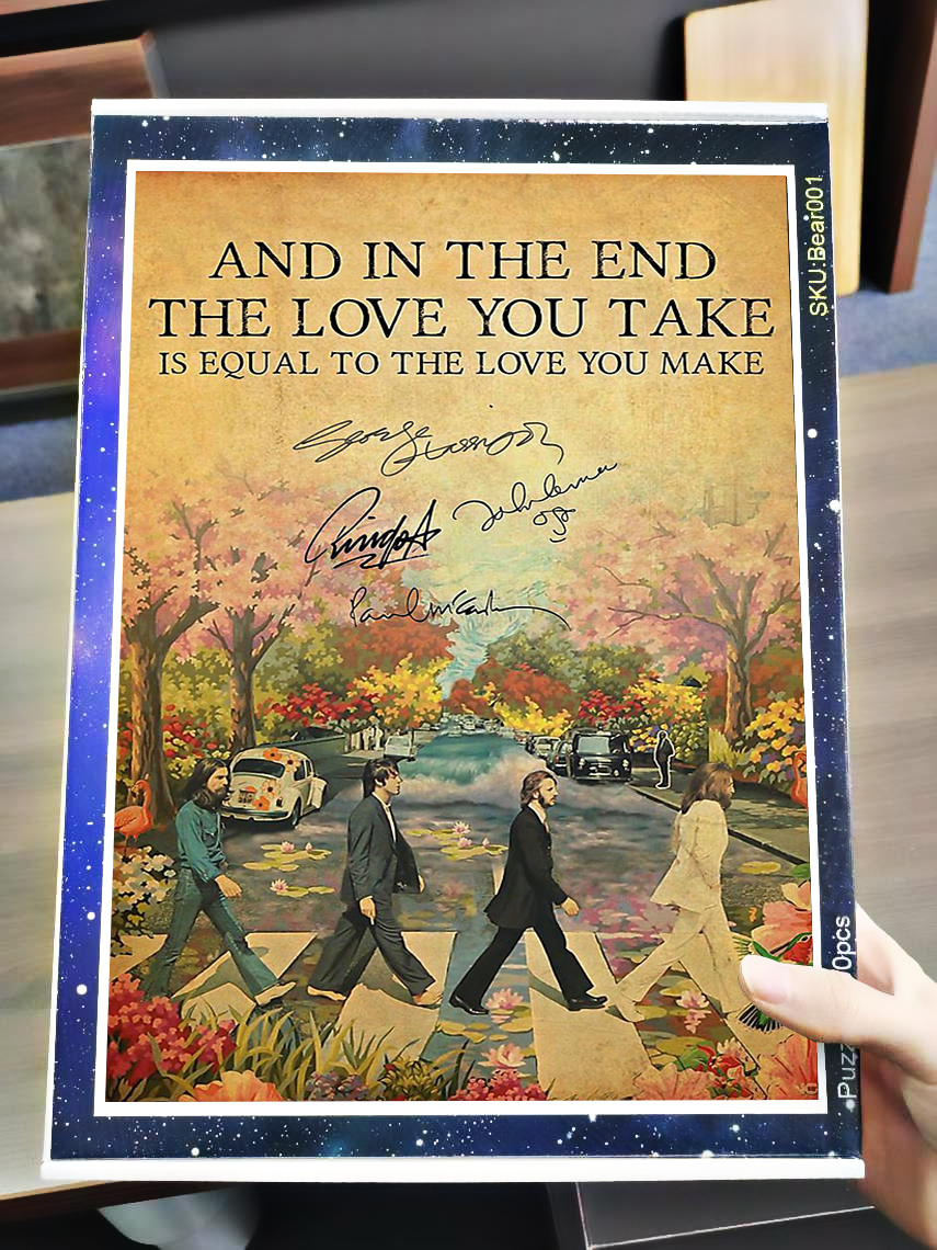 And in the end the love you take is equal the beatles jigsaw puzzle 4