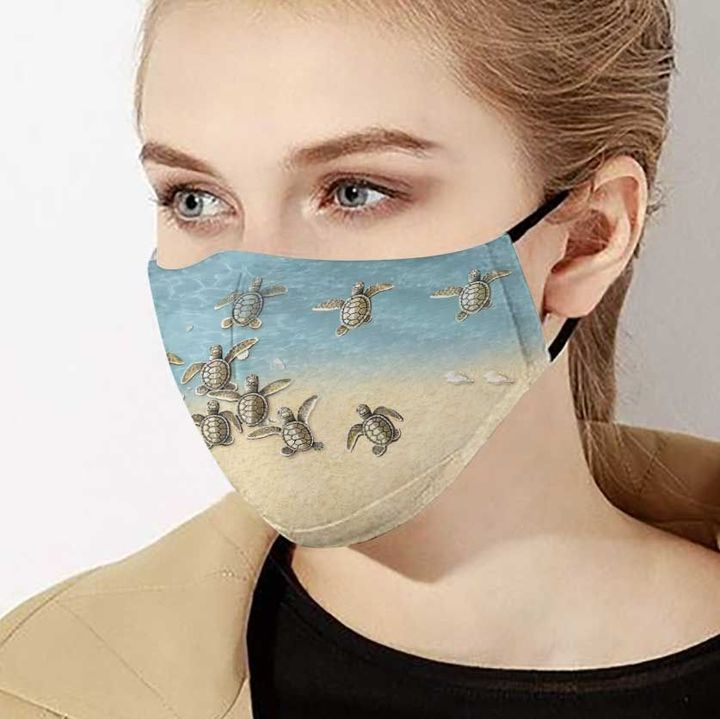 Baby sea turtles anti-dust cotton face mask 4