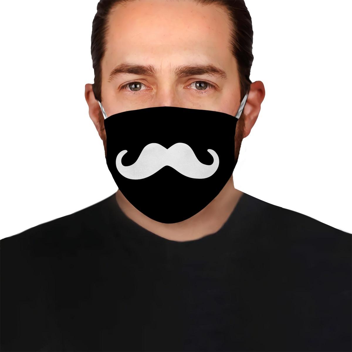 Beard grooming anti-dust cotton face mask 2