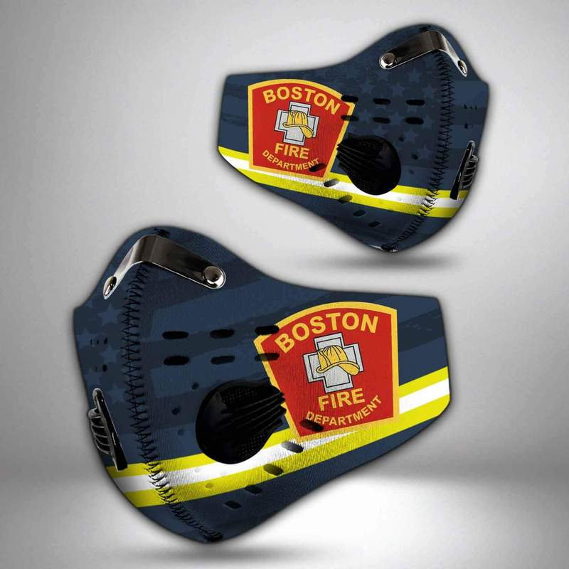 Boston fire department filter activated carbon face mask 4