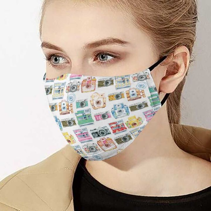 Camera collection anti-dust cotton face mask 1
