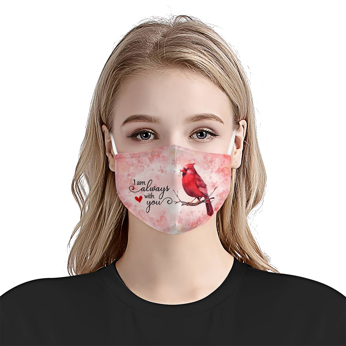 Cardinal i am always with you anti-dust cotton face mask 2