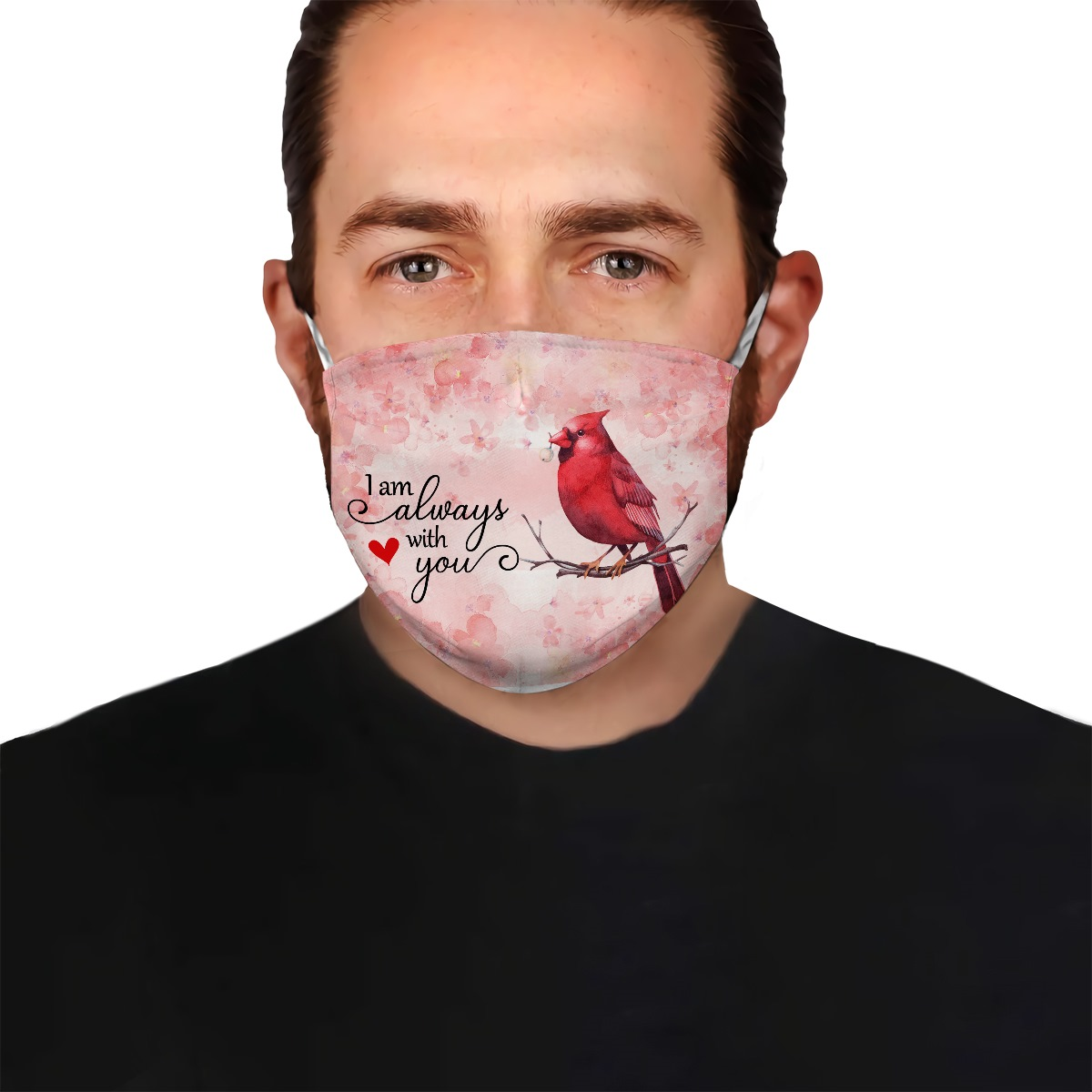 Cardinal i am always with you anti-dust cotton face mask 3