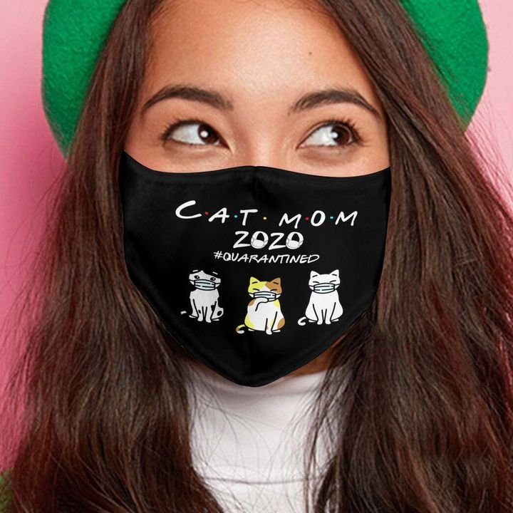Cat mom 2020 quarantined mothers day anti-dust face mask 1