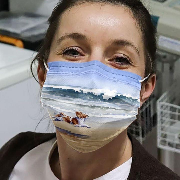 Cavalier king charles spaniel anti-dust cotton face mask 4