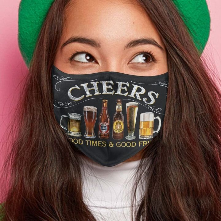 Cheers to good times and good friends anti-dust face mask 3
