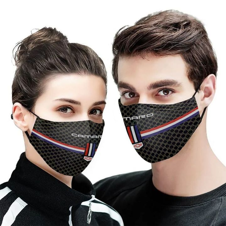 Chevrolet camaro symbol anti-dust cotton face mask 2