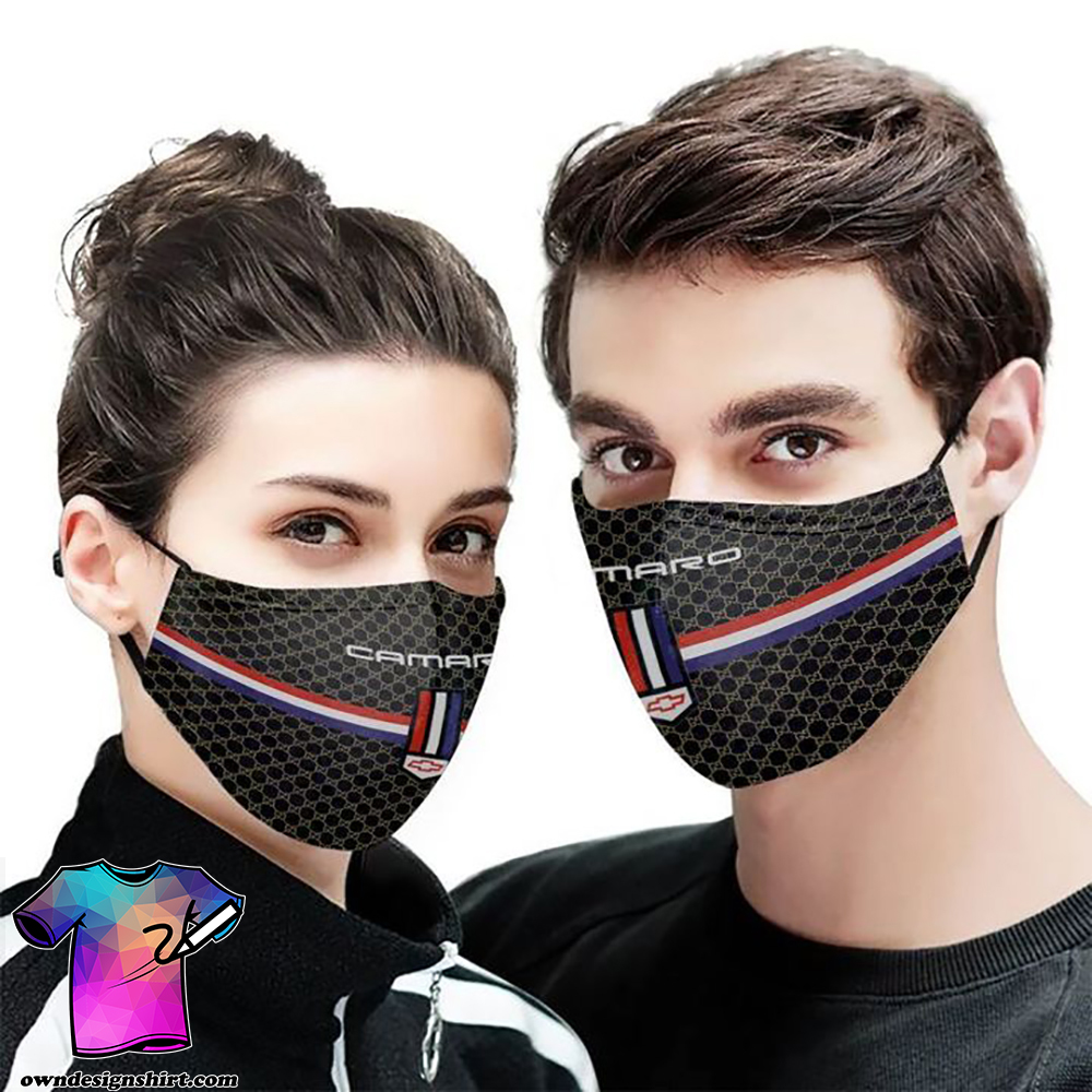 Chevrolet camaro symbol anti-dust cotton face mask