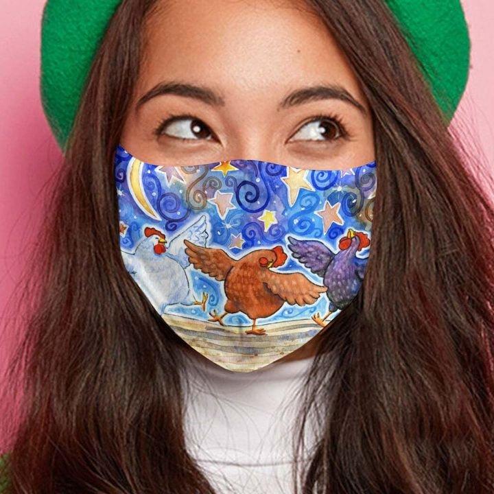 Chicken dance anti-dust cotton face mask 3