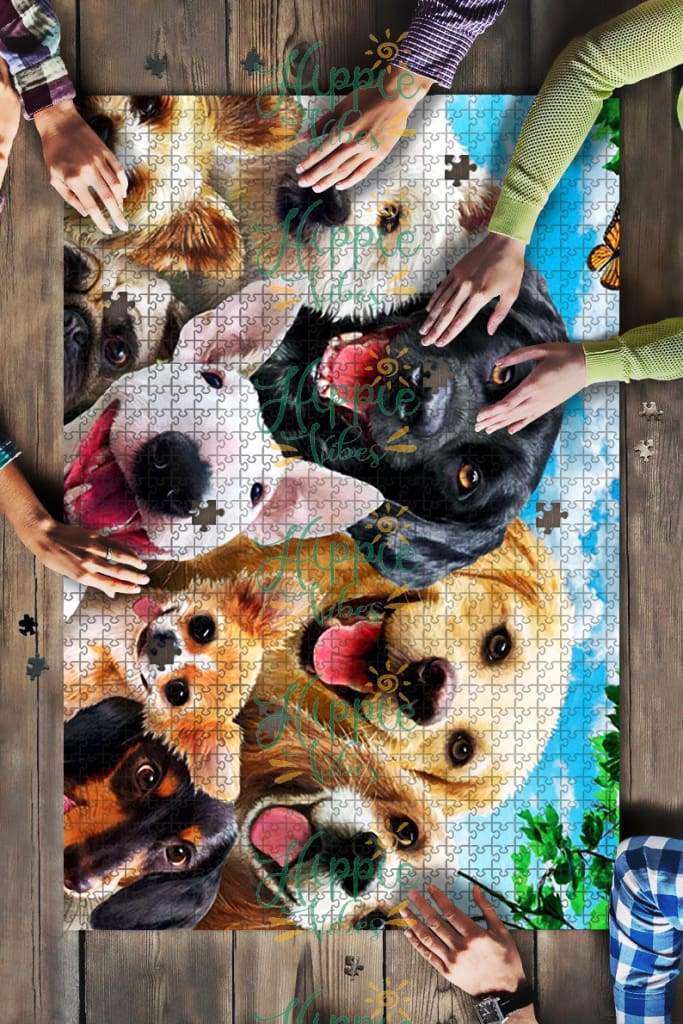 Dogs selfie jigsaw puzzle 1