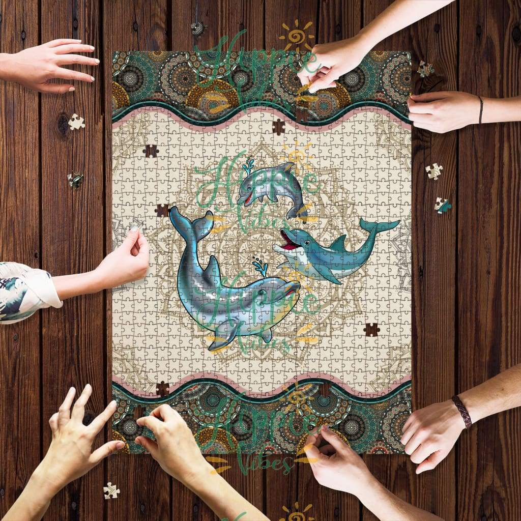 Dolphin mandala jigsaw puzzle 1