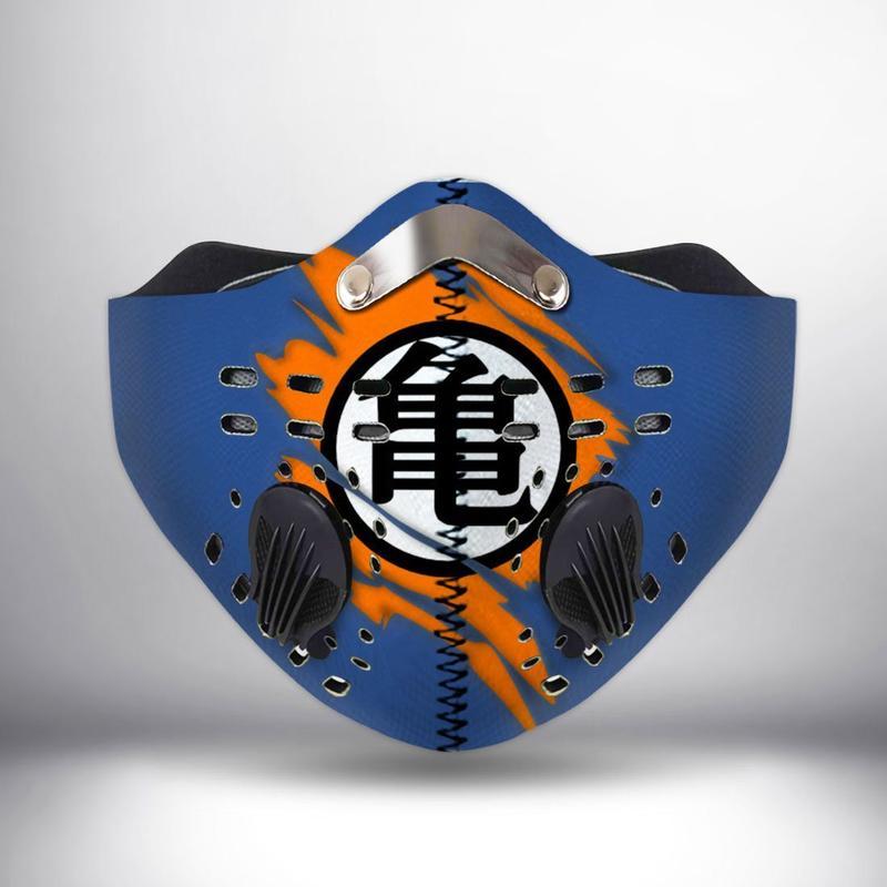 Dragon ball z logo filter activated carbon face mask 4