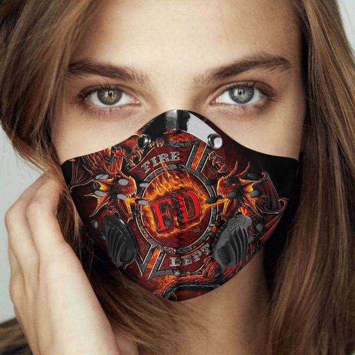 Fire department filter activated carbon face mask 2