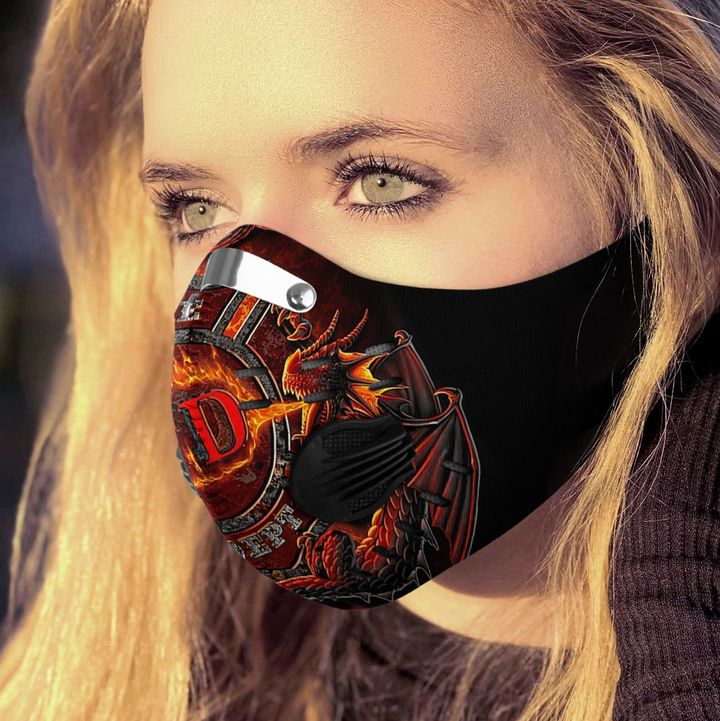 Fire department filter activated carbon face mask 3