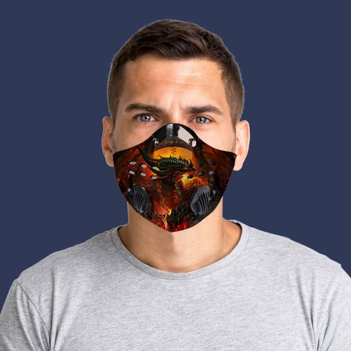 Fire dragon filter activated carbon face mask 1