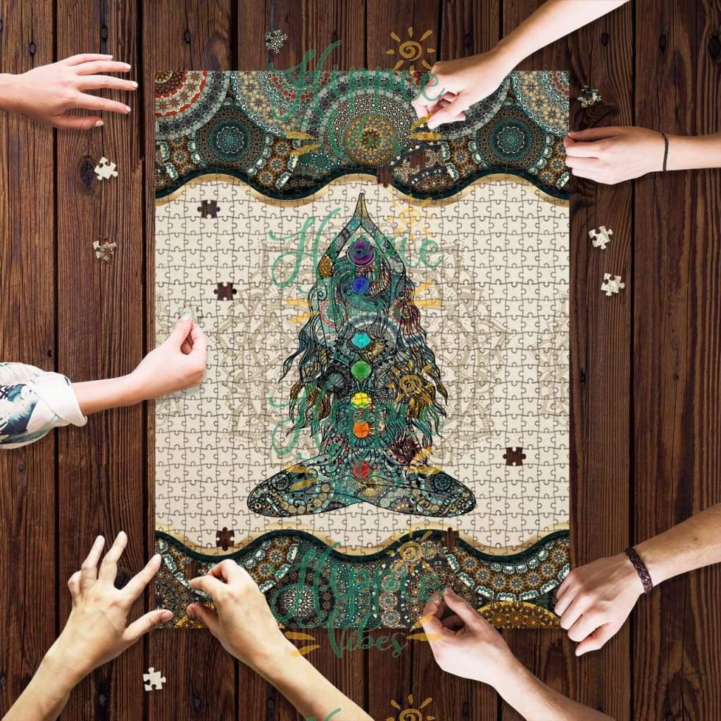 Hippie yoga chakra mandala jigsaw puzzle 1