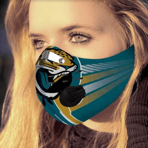 Jacksonville jaguars football filter activated carbon face mask 4