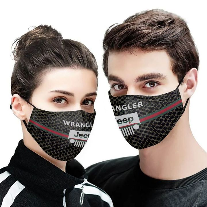 Jeep wrangler symbol anti-dust cotton face mask 2