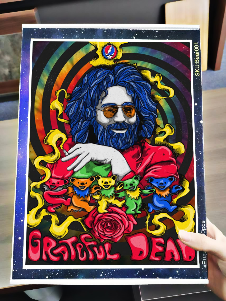 Jerry garcia grateful dead jigsaw puzzle 3