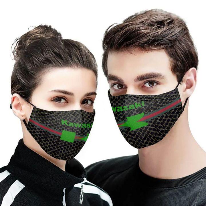 Kawasaki motor symbol anti-dust cotton face mask 1